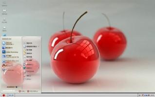 3D樱桃xp桌面主题