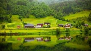 宁静乡村山水风景壁纸