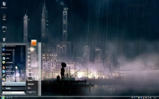 秋雨绵绵win7桌面主题