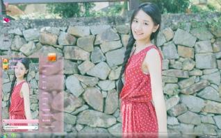 夏日小清新红裙美女主题