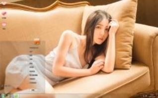 长发美女私房写真win7电脑主题